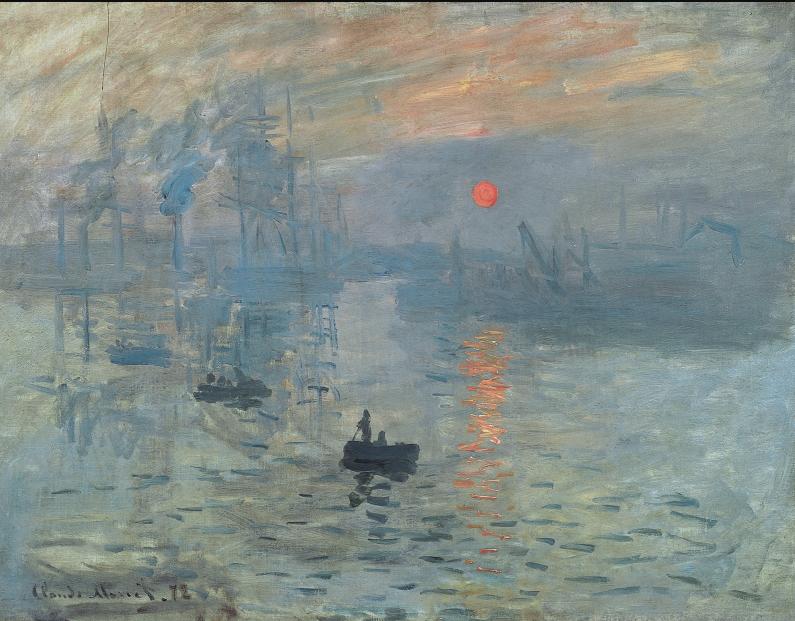 Impression, soleil levant Olio su tela, 48 x 63 cm Parigi, Musée Marmottan Monet