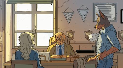 Tavola tratta dal fumetto I Bastardi di Pizzofalcone
