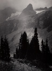 Ansel AdamsMt. Goode From North, North Cascades National Park, Washington, 1958 stampa alla gelatina d'argento 32.5 x 24 cm © The Ansel Adams Publishing Rights Trust