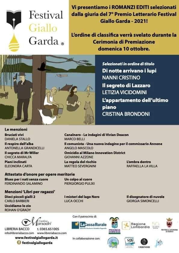 Locandina 7 Premio Letterario Festival Giallo Garda