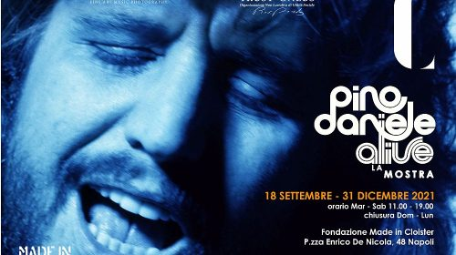 Pino Daniele Alive, La mostra_locandina orizzontale___